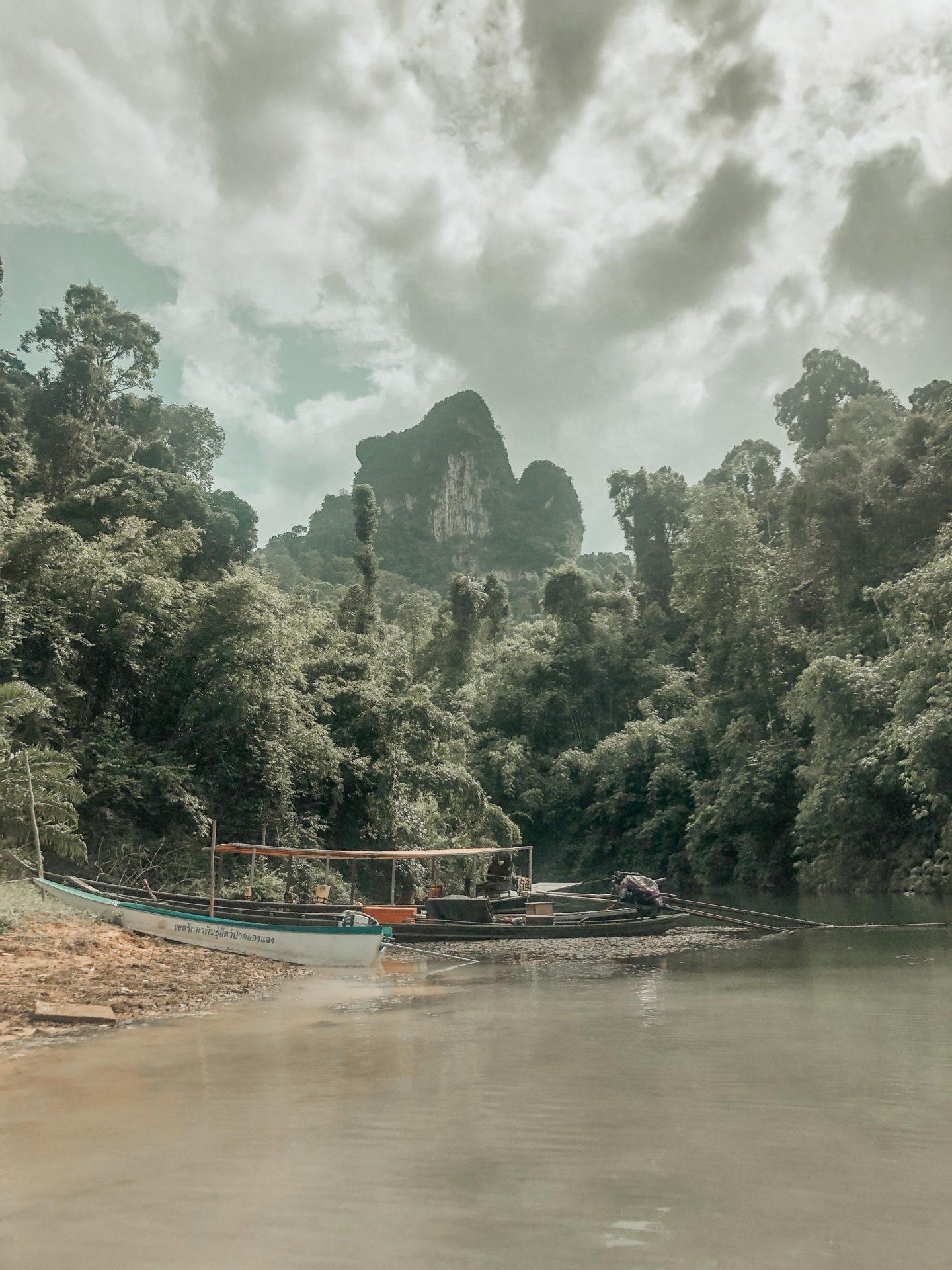 Moorings on Cheow Lan Lake